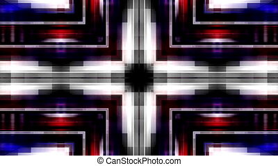 Streaks looping geometric animated red blue and white animated background