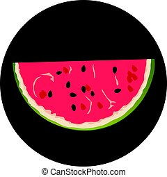 water-melon flat design icon vector eps 10