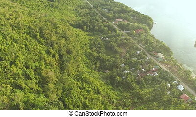Aerial view on traditional Philippines fisherman village....