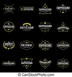 Coffee Shop Vintage Style Sets Vector illustration