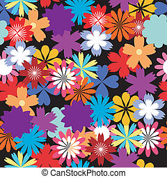 seamless flower background - seamless floral background with...