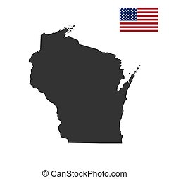 map of the U.S. state of Wisconsin on a white background