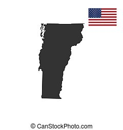 map of the U.S. state of Vermont on a white background