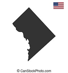 map of the U.S. District of Columbia on a white background