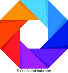Abstract Colorful Octagon Symbol - an amazing Abstract...
