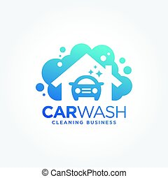Car wash logo design - an amazing illustration of Car wash...