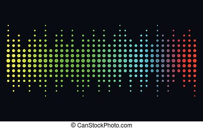Music illustration concept Sound Wave, Audio Technology,...