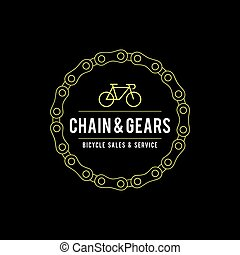 Vintage Bicycle Label illustration