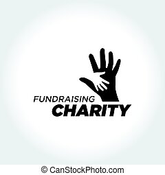 Helping People, Charity and Fundraising illustration - an...