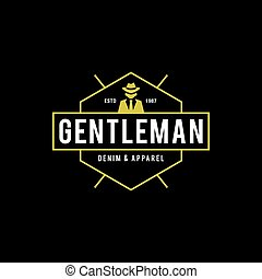Vintage Clothing Line Gentleman in black suit - an amazing...