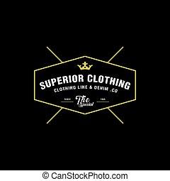 Vintage denim jeans frame logo. Classical Clothing line...