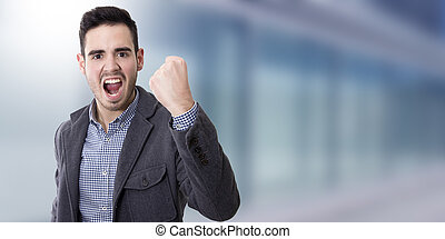 man with expression of success, businessman