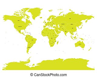 Political map of world with in green. EPS10 vector...
