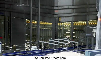 Modern conveyor for water bottling machine