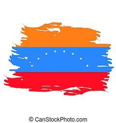 Isolated Venezuelan flag - Isolated grunge textured...