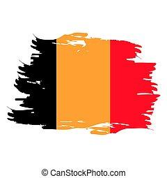 Isolated Belgian flag - Isolated grunge textured Belgian...