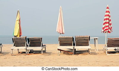 Chair with Umbrella near the Beach