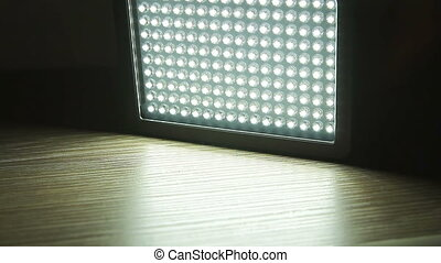Switch off of led light panel in the dark