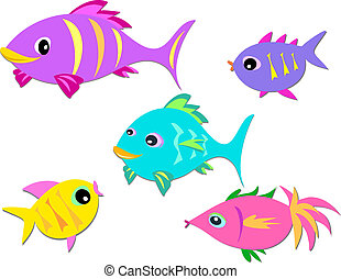 Colorful Group of Fish