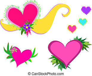 Mix of Hearts and Dcor - Here is a variety of Hearts and...