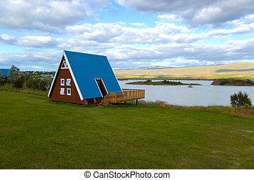 Cottage Egilsstadir in Iceland - Characteristic cottage on...