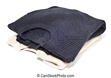 Jerseys incashemire - Two cashmere sweaters over white...