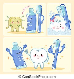 tooth with clean concept