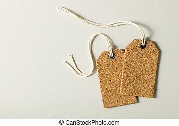 Set of blank price tags - Blank price tags or gift tags set...