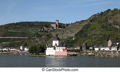 Upper Middle Rhine Valley - Castle Pfalzgrafenstein situated...
