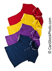 polo shirts - pad of color polo shirt with white background