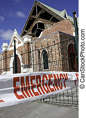 Christchurch earthquake 4 Sep 2010 - Image of a collapsed...