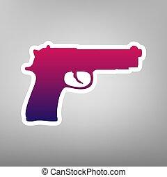 gris, Ilustración, Plano de fondo, púrpura, arma de fuego,...
