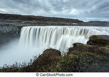 Dettifoss - most powerful waterfall in Europ, Iceland.