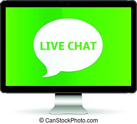 Digital Display with Live Chat - Message Live Chat...
