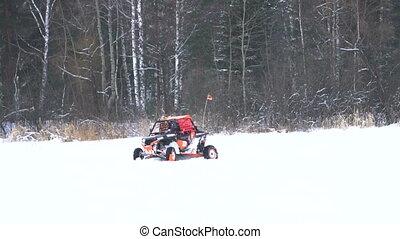 Winter off-road racing. Buggy race. - Winter racing...