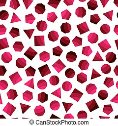 Seamless pattern with dark red geometric figures for tissue...