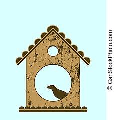 Bird in bird house