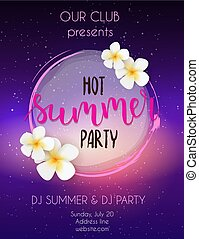 Poster template for music hot summer party