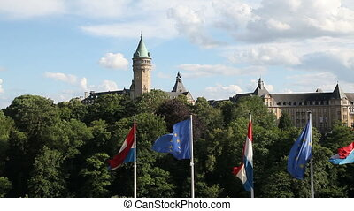 Luxembourg City Panorama - Panorama of the city of...