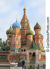 St. Basil's Cathedral on Red Square - Moscow, Russian...