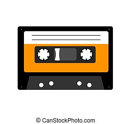 Audio cassette tape isolated on white