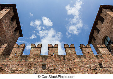 Details of Castelvecchio in Verona - Ancient walls of...