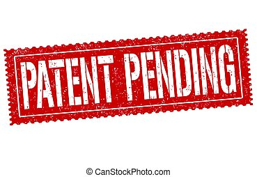 Patent pending sign or stamp on white background, vector...