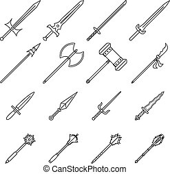 Weapon Icons (Line)