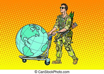 Military tourism, the mercenary with a cart Earth. War and...