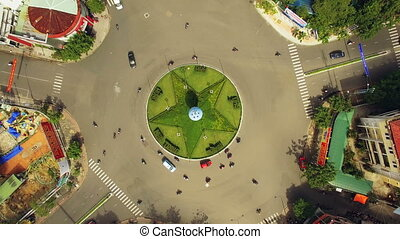 Aerial Survey Roundabout in Vietnam