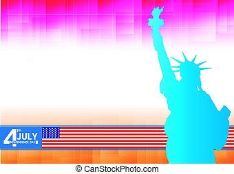 fourth of july independence day of the usa, vector illustration.