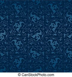 seamless blue vintage vector background