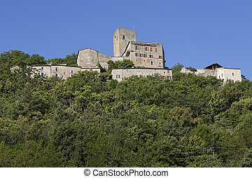 Castle of Montreal in the Ardeche district, Southern France