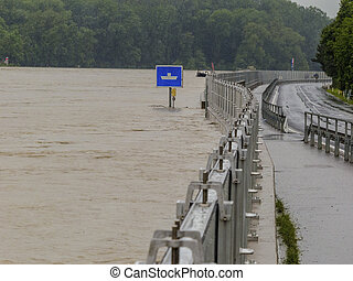 flood 2013, mauthausen, austria - flood 2013. mauthausen,...